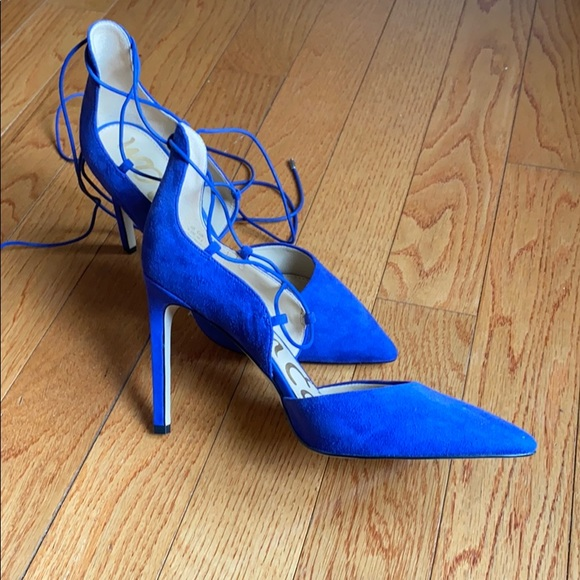 Sam Edelman blue lace up suede pumps 9.5 M
